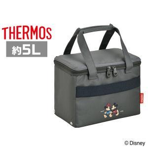 サーモス 保冷バッグ REZ-005DS GY グレー(ミッキー&ミニー) ソフトクーラー 5L ディズニー|plusmart