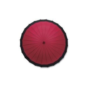 蛇の目風和傘 エンジ 60cm 二十四本骨和傘 ...の商品画像