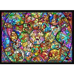 500ピース ジグソーパズル ディズニー オールスターステンドグラス 35x49cm D-500-457 テンヨー Tenyo plusmart