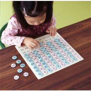 1から100までの磁石のコマを順にならべていくことによって、数の順序を身につけていきます。 コマは偶...