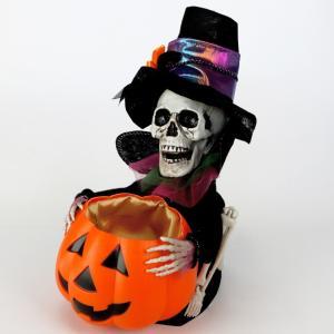 キャンディポットキーパーガイコツ HW-1134 友愛玩具 ハロウィン 飾り 骸骨 ホラー 雑貨 装飾 プレゼント plusmart