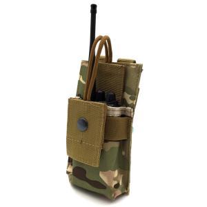 ラジオポーチ 無線機ポーチ トランシーバーポーチ モールシステム対応 MOLLE対応 サバイバルゲーム サバゲー装備 ミリタリー タクティカル 小型 plusnao