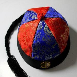 辮髪帽子 ベンパツ帽子 コスプレ 中華帽子 チャイナ帽子 中華 帽子 辮髪 ベンパツ 丸帽子 中華丸帽子 中華ファッション チャイナ 中国 民族 民族 plusnao