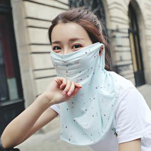 可愛くおしゃれに顔〜首・肩の紫外線防止ができます。 夏に気持ち良いひんやり冷感素材♪ ランニング・ガ...