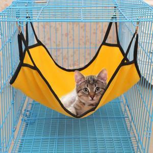 ペット用 ハンモック ハウス ベッド 吊り下げ フック付き 猫 キャット 猫専用 室内 ワンサイズ ペット用品 寝床 ペットハウス リラックス 可愛い...
