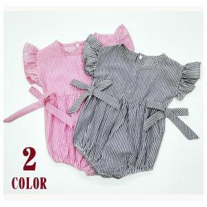 袖フリル×サイドリボンで可愛らしいデザインです☆ 出産祝いやプレゼントに♪  【サイズについて】 画...