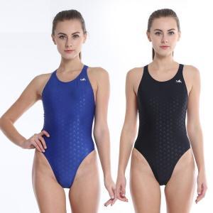 水着 競泳水着 スイムウェア レディース タイト Uネック クロスデザイン ハイカット フィットネス スポーツジム 競泳用|plusnao