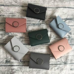 財布 レディース ウォレット 二つ折り 薄い 薄型 カード入れ多い 折りたたみ 軽量 収納 小さい ...