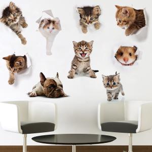 ウォールステッカー 壁紙シール 壁装飾 装飾 ステッカー 雑貨 壁 壁紙 シール インテリア 窓 トイレ リビング 小物 アニマル 動物 ネコ ねこ