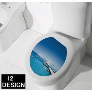 トイレの蓋や水タンクに貼って装飾できる トイレ用ステッカーです。  トイレが明るくオシャレになります...