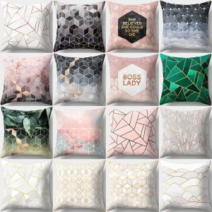 クッションカバー クッション用カバー 45 45cm カバーのみ スクエア型 四角形 正方形 幾何学模様 パターン おしゃれ きれいめ 可愛い かわい