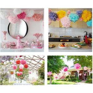 フラワーポム 花ポンポン ペーパーポンポン デコレーション 結婚式 誕生日 ホームパーティー イベン...