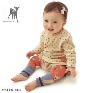 可愛い模様の赤ちゃん用レッグウォーマー  【カラーについて】 生産ロットにより柄の出方や色の濃淡が多...