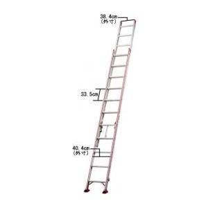 [個人宅配送不可] 強力2連はしご 全長:6m45cm 長谷川工業 HA2-64 【北海道別途送料】【一部配達不可地域有】【代引不可】|plusys