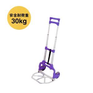 アルミ製 折りたたみキャリーカート 耐荷重30kg ゴムベルト付 FW-90S 渋YD|plusys