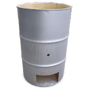 【塗装有】 シルバー ドラム缶焼却炉 オープンドラム 200L 焼却炉 (部品入り) 納期2週間 ミY【代引不可】|plusys