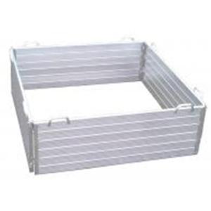 【大型配送】 アルミ製 堆肥枠 180cm×180cm ミツルD|plusys