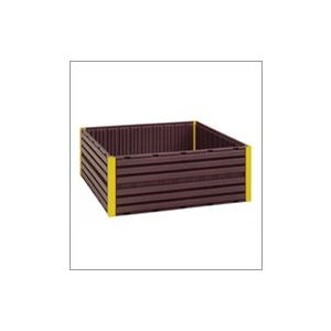 コダマ堆肥枠 AC-1800 180cm×180cm コダマ樹脂 個人店入れ【代引不可】|plusys