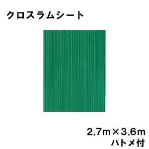 クロスラムシート 2.7 m × 3.6 m ハトメ付 【養生シート】 カ施【代引不可】|plusys