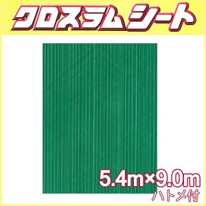クロスラムシート 5.4 m × 9.0 m ハトメ付 【養生シート】 カ施【代引不可】|plusys