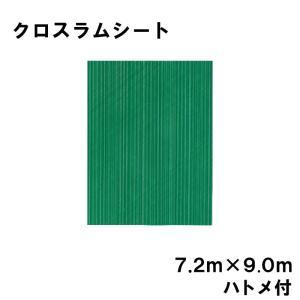 クロスラムシート 7.2 m × 9.0 m ハトメ付 【養生シート】 カ施【代引不可】|plusys