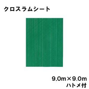 クロスラムシート 9.0 m × 9.0 m ハトメ付 【養生シート】 カ施【代引不可】|plusys