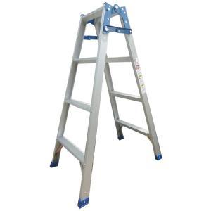 【個人宅配送不可】はしご兼用脚立5段 脚立使用:141cm はしご使用:296cm 幅広ステップ54mm 耐荷重100kg シN直送|plusys