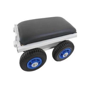 【2個】 農作業用 アルミカート タイヤ付 アルミチェア シN 直送|plusys