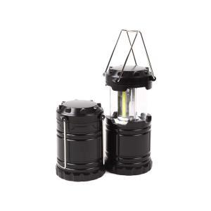 スライド式 COB LED ランタン 【ブラック】黒 アウトドア ライト 防災備品 フYD|plusys