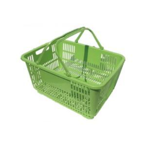 【個人宅配送不可】 【20個】 買い物かご ライトグリーン 野菜 果樹収穫 カゴ 安全興業 【代引不可】|plusys