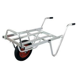 【離島配送不可】 【大型配送】アルミ 平型一輪車 ネコ - コンテナ2個載せ用 シN直送|plusys