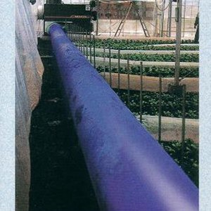 クロスラムダクト ビニールハウス用温風ダクト 折径63cm×30m  厚0.14mm 極厚 高耐久 長寿命 ブルー カ施【代引不可】 plusys