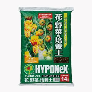【168L】 ハイポネックス バンブーパウダー入り 花 と 野菜 の 培養土 14L ×12袋 タ種 【代引不可】|plusys