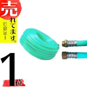 十川ゴム 動噴ホース グリーン軽量スプレーホース 5.0Mpa 13mm×100m金具付 防J【代引不可】|plusys