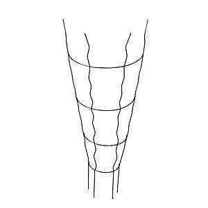 平面トレリス サークル GD-2335 スチール製 サンカ H|plusys