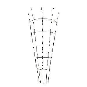 平面トレリス 120 サークル GD-2336 スチール製 サンカ H|plusys