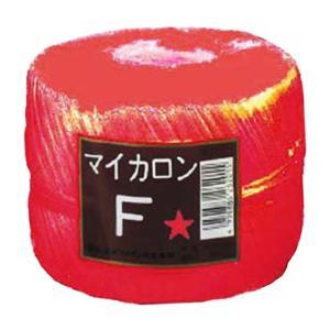 【40個】 マイカロンF 玉巻 赤 500m × pp ビニール 荷物 の 荷造り 梱包 紐 ロープ タ種 【代引不可】 plusys