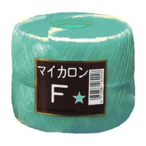 【40個】 マイカロンF 玉巻 緑 500m × pp ビニール 荷物 の 荷造り 梱包 紐 ロープ タ種 【代引不可】 plusys