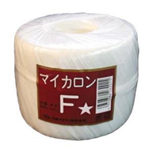 【40個】 マイカロンF 玉巻 白 500m × pp ビニール 荷物 の 荷造り 梱包 紐 ロープ タ種 【代引不可】 plusys