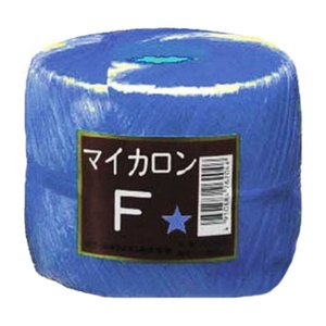 【40個】 マイカロンF 玉巻 青 500m × pp ビニール 荷物 の 荷造り 梱包 紐 ロープ タ種 【代引不可】 plusys