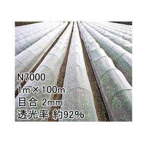 1m × 100m ナチュラル 防虫サンサンネット N7000 ビニールハウス トンネル などに 防虫ネット 日本ワイドクロス タ種 D|plusys
