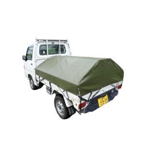 アルミフレーム 軽トラ幌 AKT-5型 軽トラックの荷台の雪・雨対策に!簡易テントセット アルミスアS【代引不可】|plusys