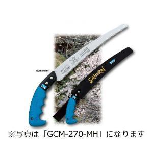 SAMURAI (サムライ)  鋸 チャレンジシリーズ GCM-270-MH 曲刃タイプ 中目 刃長 270mm ピッチ 3.0mm ノコギリ のこぎり 剪定 三冨D|plusys