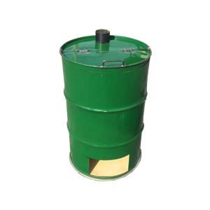 【塗装無】 緑 ドラム缶焼却炉 煙突付 200L 焼却炉 納期3週間 ミY 【代引不可】|plusys