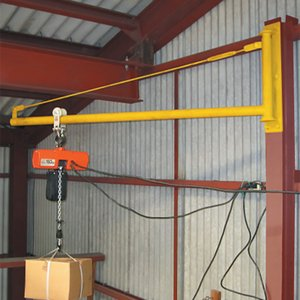 パイプジブクレーン PJ1000 トロリー可動  1.0 m 最大使用荷重 150 kg (ホイストは別売りです) スリーエッチ HHH H|plusys