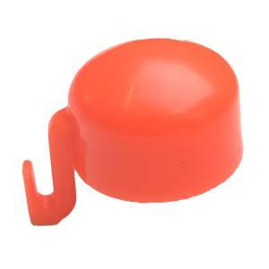 【1000個 (100個×10袋 )】 フックつき キャップ 19.1mm 22.2mm 兼用型 オレンジ 外径2種類に使用可能 ミネ ミE H|plusys