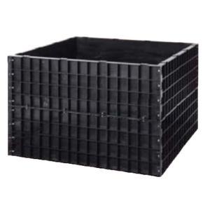 【個人宅配送不可】【北海道不可】堆肥枠 容量1100L A-22 124×124×高さ80cm サンポリ【代引不可】|plusys