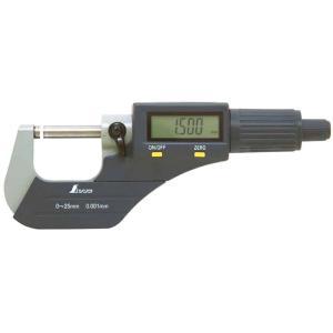 デジタルマイクロメーター 0~25mm [ 79523 ] シンワ測定H|plusys