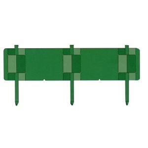 【個人宅・現場入・北海道不可】 土留鋼板 とまるくん 本体のみ 10枚組 緑色 ニッケンフェンス&メタル 共B【代引不可】|plusys