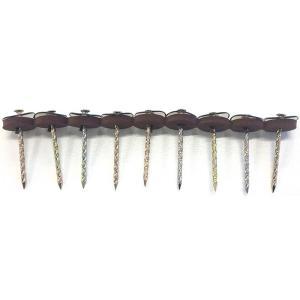 ポリカーボネイト 連結傘釘 38mm ブロンズ 30連 (270本分) 木下地用 波板用 アMD|plusys